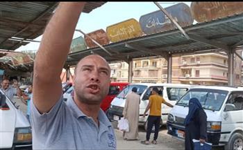 """موقف """"ميكروباص السلام - بلبيس"""" .. يشكو إهمال مجلس المدينة فيديو"""