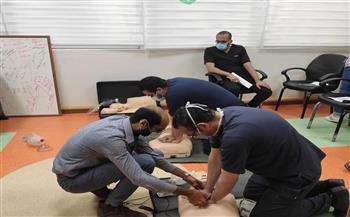 تدريب كوادر بشرية ببورسعيد على إنعاش القلب الرئوي الأساسي|صور