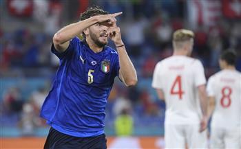 الشوط الأول.. إيطاليا تتقدم بهدف نظيف أمام سويسرا في «يورو 2020»