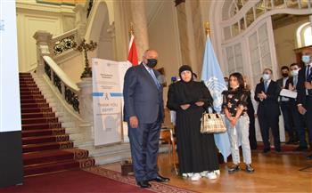 وزير الخارجية يكرم أسر الشهداء من رجال القوات المسلحة والشرطة بقوات حفظ السلام | صور