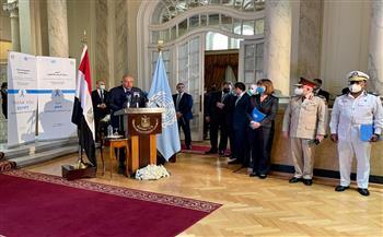 """""""شكري"""" يوجه التحية إلى سيدات مصر ورجالها العاملين تحت رايات الأمم المتحدة في قوات حفظ السلام"""