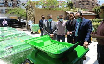 محافظ المنوفية يتفقد صناديق جمع القمامة الجديدة| صور وفيديو