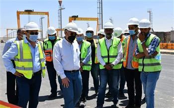 رئيس المقاولون العرب يتفقد مشروع مونوريل السادس من أكتوبر |صور