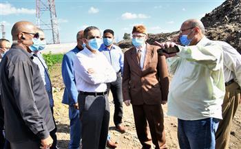محافظ الغربية يعاين أرض مصنع تدوير مخلفات البناء بكفر الزيات | صور