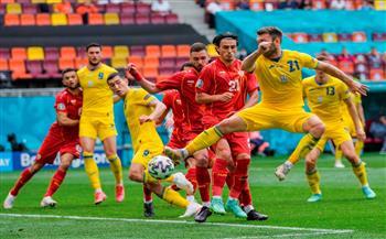 أوكرانيا تتقدم على مقدونيا بثنائية في الشوط الأول بـ«يورو 2020»  صور