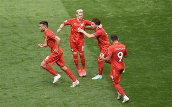 منتخب مقدونيا يسجل الهدف الأول في شباك أوكرانيا بـ «يورو 2020»