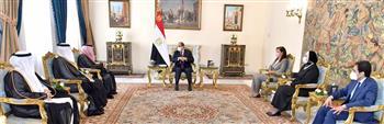 الرئيس السيسي والقصبي يبحثان سبل دعم مجلس الأعمال المصري السعودي