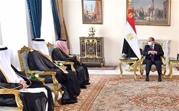 تفاصيل استقبال الرئيس السيسي لوزير التجارة السعودي