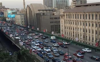 كثافات مرورية متوسطة بمعظم الطرق والمحاور فى الفترة المسائية |صور