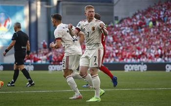 «دى بروين» يضيف الهدف الثاني لبلجيكا فى شباك الدنمارك