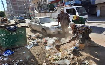 رفع 35 طن قمامة فى حملة نظافة بمدينة الباجور بالمنوفية |صور