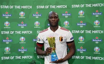 «لوكاكو» يفوز بجائزة رجل مباراة بلجيكا والدنمارك فى «يورو 2020»