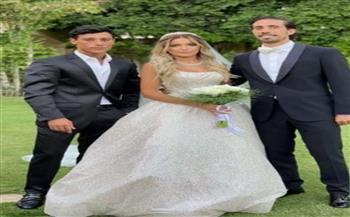 الصور الأولى لابنة علا غانم بفستان الزفاف