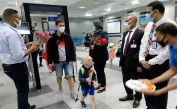 """مطار الغردقة الدولى استقبل أولى رحلات """"مصر للطيران"""" القادمة من براغ  صور"""