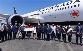 مطار القاهرة يستقبل اول رحلة مباشرة من مونتريال  صور