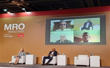 مصر للطيران للصيانة تشارك بمؤتمر ومعرض صيانة وعمرة الطائرات بالشرق الأوسط 2021   صور
