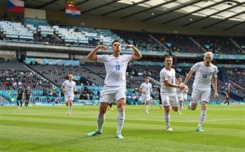 منتخب التشيك يتقدم بالهدف الأول أمام كرواتيا من ركلة جزاء