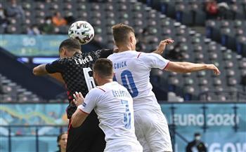 كرواتيا تسجل هدف التعادل أمام التشيك في «يورو 2020»
