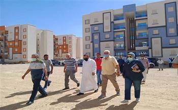 لجنة من «الإسكان» تتفقد «سكن كل المصريين» بالغردقة | صور