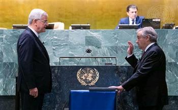 أنطونيو جوتيريش يقسم اليمين لولاية ثانية كأمين عام للأمم المتحدة