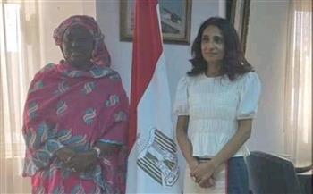 السفيرة المصرية في داكار تلتقي وزيرة جامبيا للمرأة والطفل
