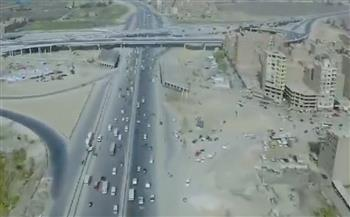 وزارة النقل تنشر فيديو لأعمال تطوير وتوسعة الطريق الدائري حول القاهرة الكبرى