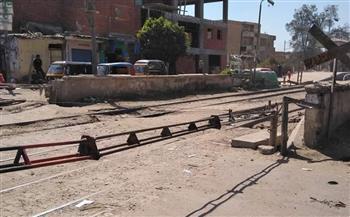 """إغلاق مزلقان """"القرشية"""" في السنطة لمدة شهر لتطويره   صور"""