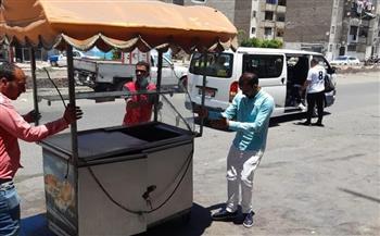 ضواحى بورسعيد: مصادرة كراسي المقاهى المخالفة وإزالة تعديات الباعة الجائلين | صور