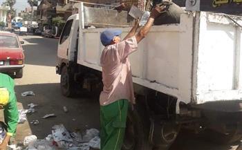 حملة نظافة موسعة لرفع تجمعات القمامة بمدينة بركة السبع في المنوفية | صور