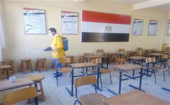 تعقيم لجان الدبلومات الفنية بالإسكندرية بعد انتهاء أول أيام الامتحانات | صور