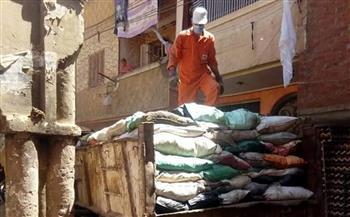 رفع 44 طن قمامة في حملات نظافة بقرى الباجور بالمنوفية | صور