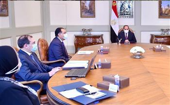 الرئيس السيسي يوجه بمواصلة تنفيذ خطة توصيل الغاز للوحدات السكنية المنزلية والمدن الجديدة