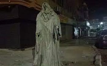 """محافظة الإسماعلية تعلن إزالة تمثال """"شبح الموت"""""""