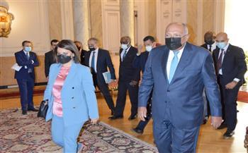 وزير الخارجية يستقبل نظيرته الليبية  صور