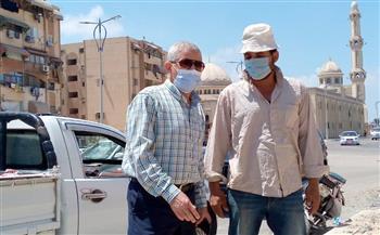 سكرتير عام بورسعيد يتفقد الجراج العمومي وأعمال الصرف الصحي بشارع البترول