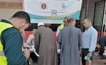 الكشف على 750 حالة بقافلة طبية للكشف عن أمراض العيون بقرية العراقية في المنوفية