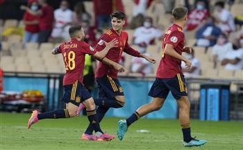 «موراتا» يقود إسبانيا للتقدم على بولندا بالشوط الأول فى «يورو 2020»