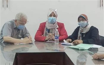 لجنة للإشراف على التنسيق بين المستشفيات ووحدة قسطرة القلب بمستشفى أشمون العام
