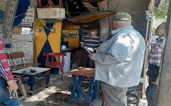 حملة موسعة لرفع الإشغالات بشوارع حى غرب شبين الكوم بالمنوفية