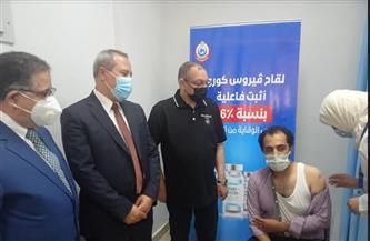 حملة لتطعيم أعضاء هيئة التدريس ومراقبي الامتحانات بجامعة الدلتا بلقاح كورونا| صور