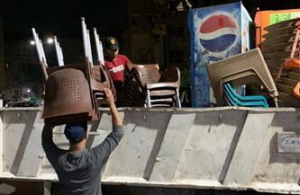 إغلاق مقاهٍ ومحال تجارية لمخالفتها الإجراءات الاحترازية في حملة أمنية بسوهاج
