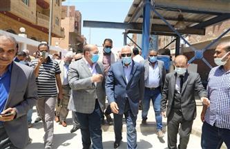 محافظ الجيزة يفتتح مشروع محطة رفع الصرف الصحي بقرية الصفيرة بأوسيم | صور