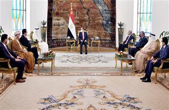 تفاصيل استقبال الرئيس السيسي لرئيس البرلمان العربي