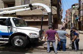رئيس مياه المنوفية: تطهير شبكات وخطوط الصرف الصحى بشبين الكوم | صور