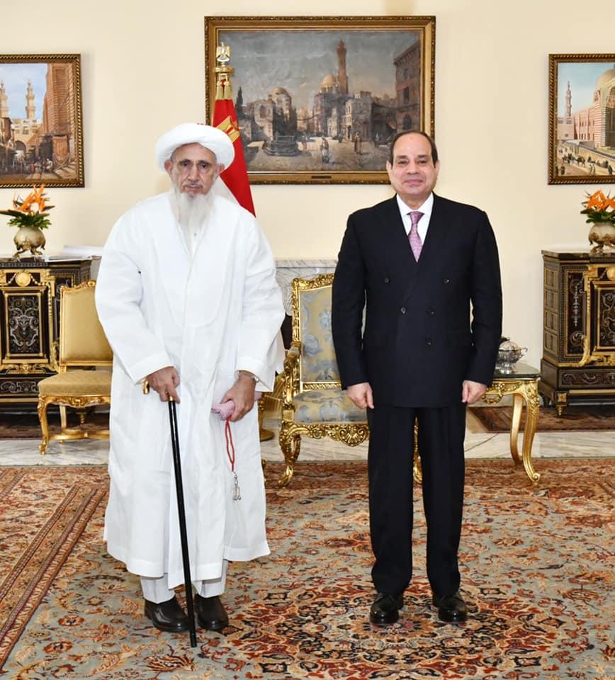 الرئيس السيسي يستقبل سلطان طائفة البهرة بالهند