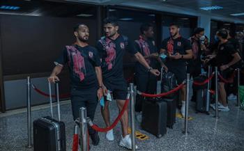 بعثة الأهلي تغادر مطار قرطاج في طريقها إلى القاهرة بعد الفوز على الترجي