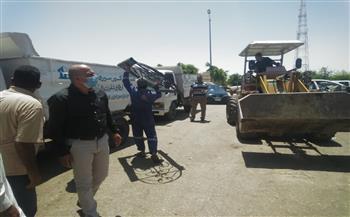 غلق 3 ورش ورفع 40 حالة إشغال متنوعة في «سنورس»