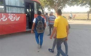 مدينة الحمام: توفير أتوبيس لنقل طلاب الثانوية الأزهرية|صور