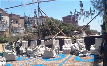 فض سرادق عزاء ومصادرة 33 شيشة في مقاهٍ مخالفة بالشرقية | صور