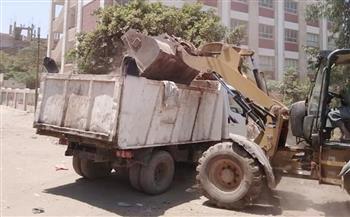 رفع 218 طن قمامة في حملات نظافة بقرى مركز شبين الكوم بالمنوفية |صور